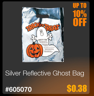 Silver Reflective Ghost Bag