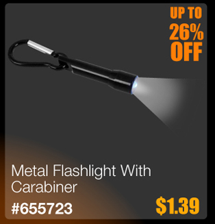 Metal Flashlight With Carabiner
